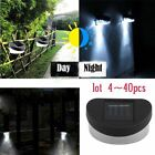 Solar Fence Wall Light LED Decorative Wireless Outdoor Lamp Powered Black Gutter