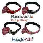 Rosewood Traditional Soft Padded Protection Red, Black, Pink, Blue Dog Collar