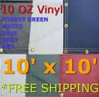 10' x 10' 10 Oz. Vinyl Waterproof Tarp - Truck Trailer Equipment Cover