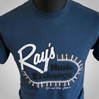 Rays Music Exchange Movie Themed Retro Blues Brothers T Shirt Ray Charles Blue