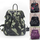 Water Resistant Nylon Trapeze Frame Camo Backpack Rucksack Daypack Travel Bag