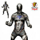 Deluxe Power Rangers Adult Mens Morphsuit Superhero Fancy Dress Costume