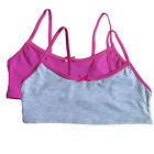 Hanes Girls Bralette Bra Youth Pullover Cotton Comfort Training Sport, 2 Pack