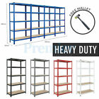 METAL SHELVING RACKING 5 TIER HEAVY DUTY INDUSTRIAL BOLTLESS STEEL SHELF