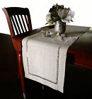 """Beautiful Hemstitched Table Runner Quality Natural Table Runner 72,90,108"""" Long"""