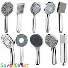 Chrome Shower Head Standard Uk Size Handheld Multi-mode Design New