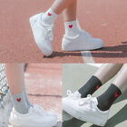 Womens Girls Heart Pattern Soft Breathable Ankle-High Casual Cotton Short Socks
