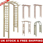 Garden Trellis Arch Archway Arbor Wooden Green Impregnated Rose Plant Patio Home