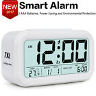 Large LCD Digital Alarm Clock Electronic Snooze Backlight Mini Desk Clock