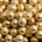 GOLD FOIL CHOCOLATE BALLS WEDDING FAVOURS WRAPPED