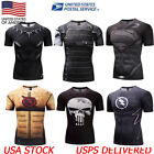 Superhero Marvel Marvel Avengers Panther 3D Compression Gym Fitness T-shirt US