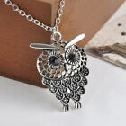 Bijoux Jewelry Gift Hollow Out Owl Pendant Necklace Long Chain Sweater Chain