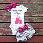 0-24 months baby clothes - USA 0-24M Baby Girls Top T-Shirt Rompers Sequin Pants Outfits Clothes Princess