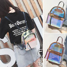 Convertible Small Mini Holographic Clear Backpack Rucksack Daypack Travel Bag