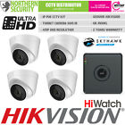 HIKVISION 1 2 3 4 Turret IP Camera CCTV Kit Bundle Security System 4MP POE IR