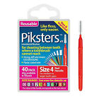 Piksters Interdental Brushes Pack of 40 Choose your Size 1/2/3/4/5/6