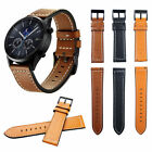 22mm Genuine Leather Strap Watch Band For Samsung Gear S3  Frontier / Classic