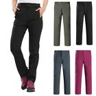 Women Soft Shell WaterProof Thermal Trousers Outdoor Hiking Golf Winter Warm AU