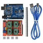 CNC Shield Expansion Board V3.0+4pcs A4988/DRV8825 Stepper Motor Driver With Hea