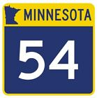 highway 54 - Minnesota State Highway 54 Sticker Decal R4744 Highway Route Sign