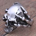 Skull Jewelry Biker Gothic Silver Fashion Rings Size 7-13 Stainless Steel Men's