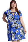 New Womens Plus Size Dress Ladies Floral Crossover Tunic Summer Midi Style Sale