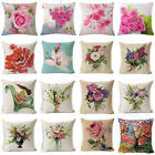 "18"" Spring Flower Pillow Case Square Cover Sofa Waist Cushion Covers Home Decor"