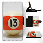 SNOOKER POOL TABLE BALLS 9 FLIP LEATHER PHONE CASE COVER FOR APPLE IPHONE $10.41 USD on eBay