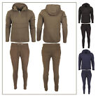 Mens Slim Fit Tracksuit Pull Over Pocket Pouch Hoodie Bottoms Jogging Sports Gym