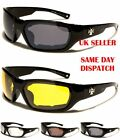 CHOPPERS Padded Mens Rectangle Goggles Sunglasses 100%UV400 927
