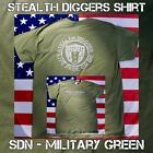 Stealth Diggers SDN military green metal detecting relic hunting T shirt LFOD