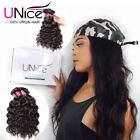 UNice Brazilian Natural Wave 1-4 PCS 100% Remy Human Hair Extensions Wet & Wavy