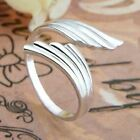 925 Silver Plt Adjustable P 1/2 Size Ring Ladies Gift Thumb Toe Open Finger