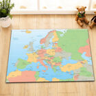 "72X72"" Europe Map with Countries and Capitals Shower Curtain Waterproof Fabric"