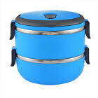 USA Sale Stainless Thermo Insulated Thermal Food Container Bento Round Lunch Box