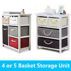Cabinet Storage Unit Chest of Drawers Organiser Bedside Wood Stand Table Baskets