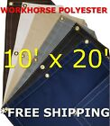 10' x 20' Workhorse Polyester Waterproof Breathable Canvas Tarp