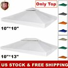 """10x10/10x13"""" Garden Gazebo Top Cover Canopy Awning Roof Replacement 2-Tier Patio"""
