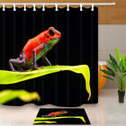 Tropical Rain Forest Red Frog Bathroom Shower Curtain Waterproof Fabric & Hooks