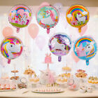 "5pcs 18"" Unicorn Flamingo Foil Balloons Helium Baby Shower Happy Birthday Party"