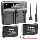 Kastar Battery Dual Rapid Charger for Canon LP-E17 LC-E17 & Canon EOS 77D Camera