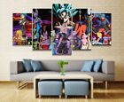 Picture 5 Panel  Anime Dragon Ball Goku Wall Home De Modular Vintage Modern