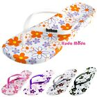 Women Summer Flower Printed Pattern Casual Thong Flat Flip Flops Sandals Slipper
