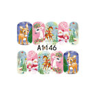 2X/set 3D Nail Stickers Decal Nail Art Feather Design Manicure Decoration Tips