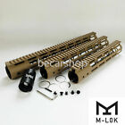Внешний вид - 10, 12, 15 inch MLok Handguard Monothilic top rail Tan color fits .223/556