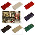 Tapered Pack of 6 Dinner Pillar 7 Hrs Candles Metallic Red Gold Ivory Black F&F