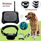 Electric Dog Pet Wireless Fence Containment System Waterproof Transmitter Collar