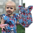Newborn Baby Girl Star Wars Bodysuit Floral Romper Jumpsuit Clothes Outfit 0-24M