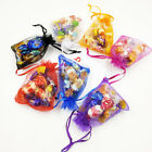 10-100pcs Luxury Organza Wedding Favour X-mas Gift Candy Bags Jewelry Pouch New