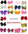Girls Boutique Large Fashion Hair Bow Plain with Diamante Accessory